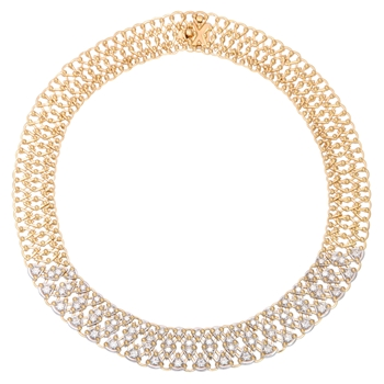 Diamond Gold 'Lace' Necklace