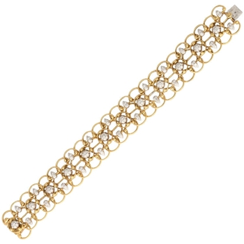 Gold and Diamond Lace Bracelet