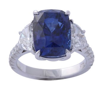 Magnificent Sapphire and Diamond Ring