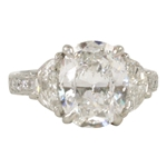 Magnificent Oval Diamond Solitaire