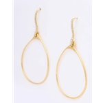 18 Karat Yellow Gold and Diamond Earrings