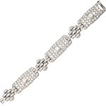 GHISO Important Art Deco Diamond Bracelet