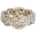 Spectacular Boucheron Platinum Diamond Bracelet