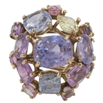 Multi Color Sapphire Brooch by Nadja Buckley