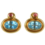 Bulgari Blue Topaz Ear Clips